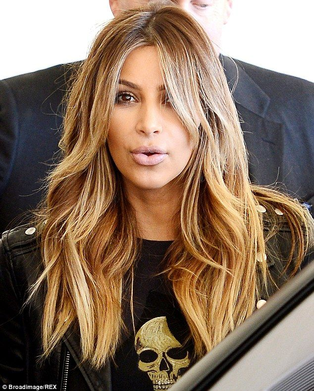 Kim Kardashian New Long Blonde Hairstyle