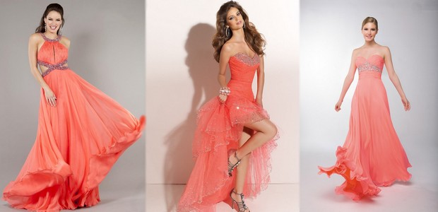 Latest Coral Wedding Dresses